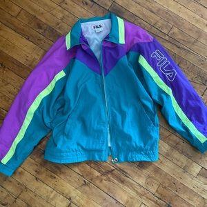 Incredible 90s Fila Colorblock Logo Windbreaker